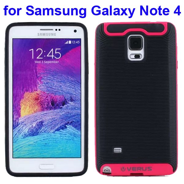Verus Brand Soft TPU and Hard Protective Hybrid Case for Samsung Galaxy Note 4 (Rose)
