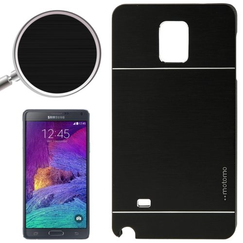 2 in 1 Brushed Texture Metal and PC Hybrid Case for Samsung Galaxy Note 4 (Black)