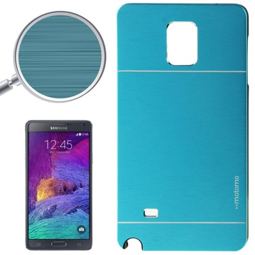 2 in 1 Brushed Texture Metal and PC Hybrid Case for Samsung Galaxy Note 4 (Blue)