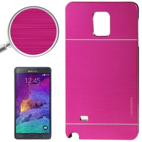 2 in 1 Brushed Texture Metal and PC Hybrid Case for Samsung Galaxy Note 4 (Magenta)