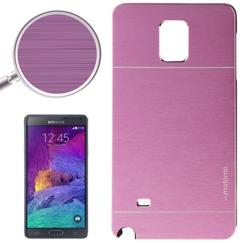 2 in 1 Brushed Texture Metal and PC Hybrid Case for Samsung Galaxy Note 4 (Purple)