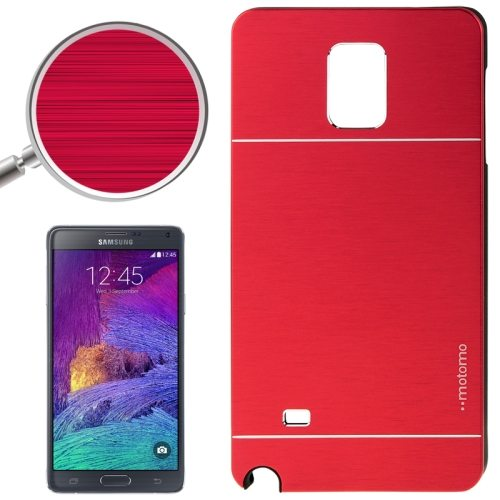 2 in 1 Brushed Texture Metal and PC Hybrid Case for Samsung Galaxy Note 4 (Red)