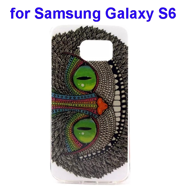 Colorful Pattern TPU Case Cover for Samsung Galaxy S6 (Cheshire Cat Pattern)