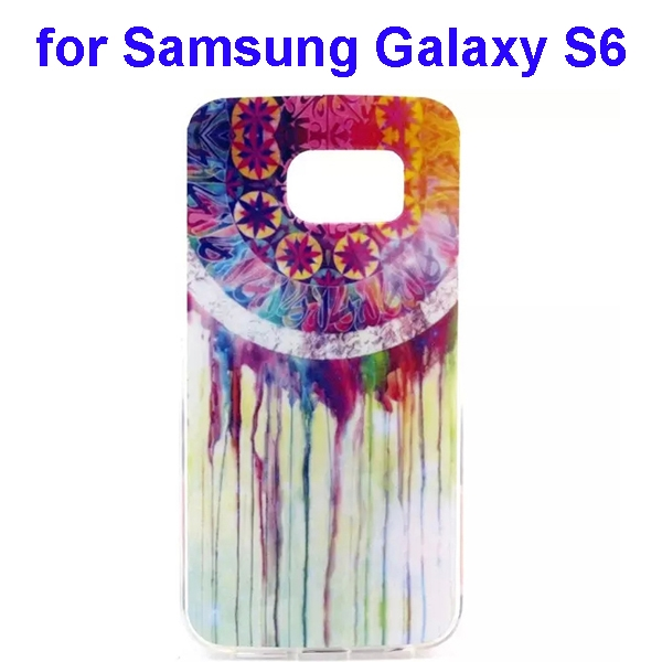 Colorful Pattern TPU Case Cover for Samsung Galaxy S6 (Watercolor Style)