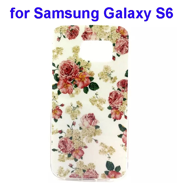 Colorful Pattern TPU Case Cover for Samsung Galaxy S6 (Flowers One Pattern)
