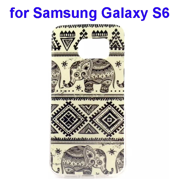 Colorful Pattern TPU Case Cover for Samsung Galaxy S6  (Elephant One Pattern)