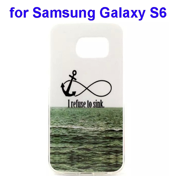 Colorful Pattern TPU Case Cover for Samsung Galaxy S6 (Sea Pattern)