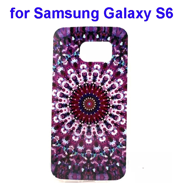 Colorful Pattern TPU Case Cover for Samsung Galaxy S6 (Flower Two Pattern)