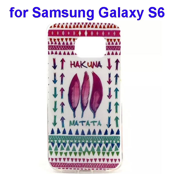 Colorful Pattern TPU Case Cover for Samsung Galaxy S6 (Flower Three Pattern)