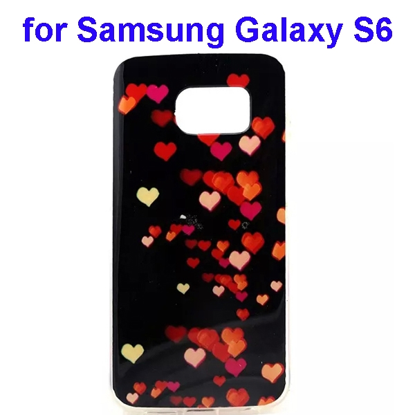 Colorful Pattern TPU Case Cover for Samsung Galaxy S6 (Heart-shaped Pattern)