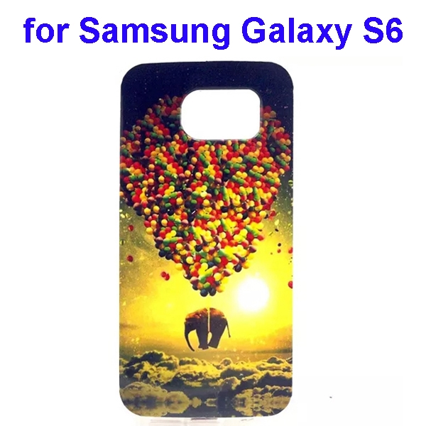 Colorful Pattern TPU Case Cover for Samsung Galaxy S6 (Elephant Three Pattern)