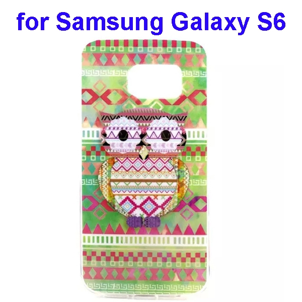 Colorful Pattern TPU Case Cover for Samsung Galaxy S6  (Brid Pattern)