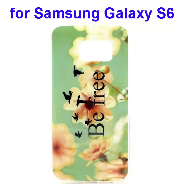 Colorful Pattern TPU Case Cover for Samsung Galaxy S6 (Be Free Pattern)