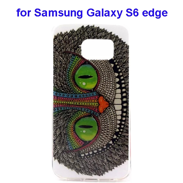 Colorful Pattern TPU Case Cover for Samsung Galaxy S6 edge (Cheshire Cat Pattern)
