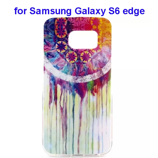 Colorful Pattern TPU Case Cover for Samsung Galaxy S6 edge (Watercolor Style)