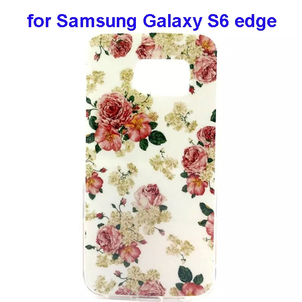 Colorful Pattern TPU Case Cover for Samsung Galaxy S6 edge (Flowers One Pattern)