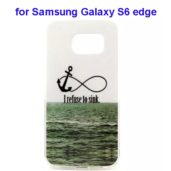 Colorful Pattern TPU Case Cover for Samsung Galaxy S6 edge (Sea Pattern)