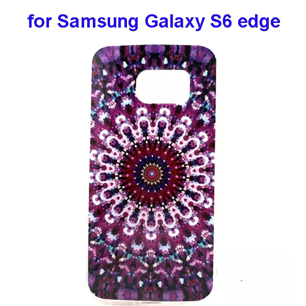 Colorful Pattern TPU Case Cover for Samsung Galaxy S6 edge (Flower Two Pattern)