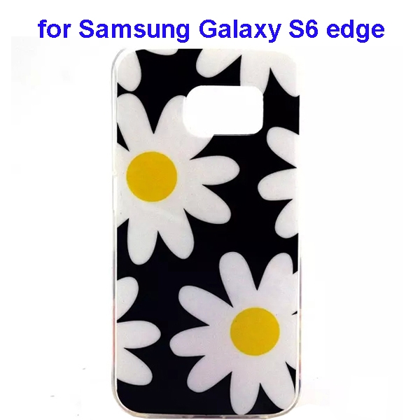 Colorful Pattern TPU Case Cover for Samsung Galaxy S6 edge (Flower Four Pattern)