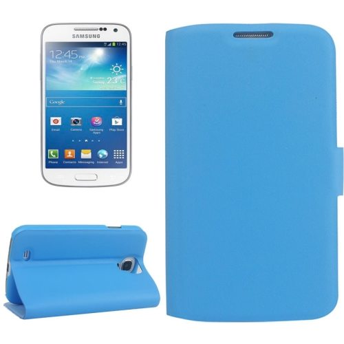 Sheepskin Texture Horizontal Flip Leather Case for Samsung Galaxy S4 with Card Slots and Holder (Blue)