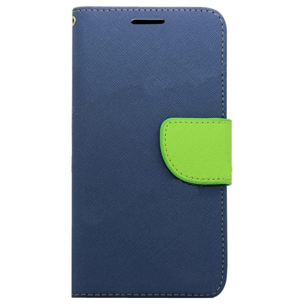 Mercury Mix Color Magnetic Wallet Case for Samsung Galaxy S6 with Card Slots (Blue+Green)