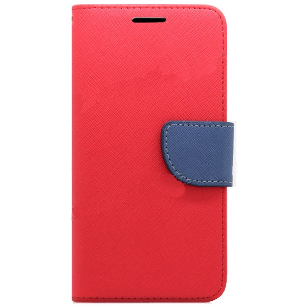 Mercury Mix Color Magnetic Wallet Case for Samsung Galaxy S6 with Card Slots (Red+Blue)