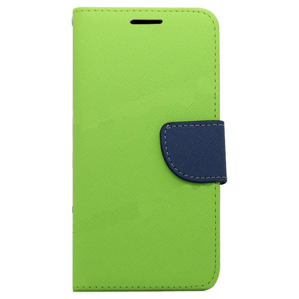 Mercury Mix Color Magnetic Wallet Case for Samsung Galaxy S6 with Card Slots (Green+Blue)