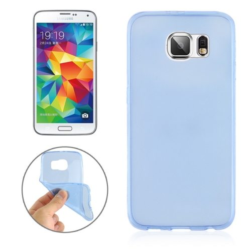0.3mm Ultrathin Soft TPU Protective Cover for Samsung Galaxy S6 (Blue)