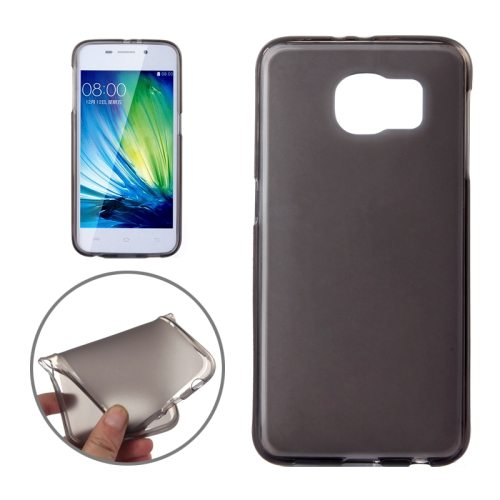 Frosted Translucent Soft TPU Protective Case for Samsung Galaxy S6 (Black)