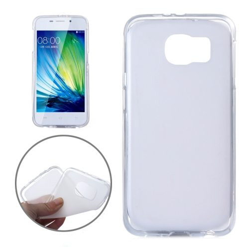 Frosted Translucent Soft TPU Protective Case for Samsung Galaxy S6 (White)