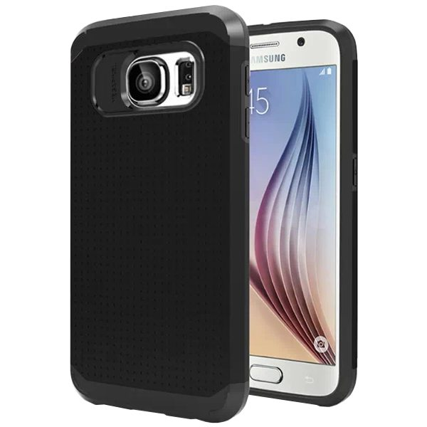 Soft TPU and Hard Protective Hybrid Cover for Samsung Galaxy S6 (Black)