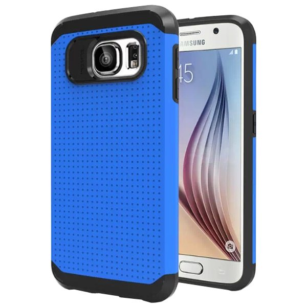 Soft TPU and Hard Protective Hybrid Cover for Samsung Galaxy S6 (Blue)