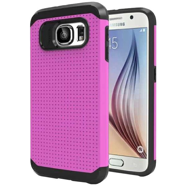 Soft TPU and Hard Protective Hybrid Cover for Samsung Galaxy S6 (Pink)