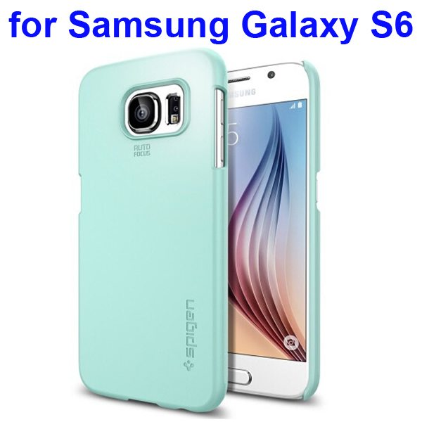 Thin Fit Series Anti-shocking Protective Case for Samsung Galaxy S6 (Green)