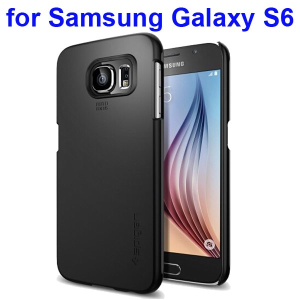 Thin Fit Series Anti-shocking Protective Case for Samsung Galaxy S6 (Black)