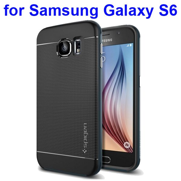 2 in 1 TPU and PC Frame Neo Hybrid Protective Case for Samsung Galaxy S6 (Dark Blue)