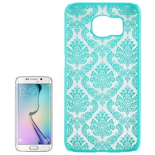 Embossed Flowers Pattern Protective Hard Plastic Case for Samsung Galaxy S6 (Green)