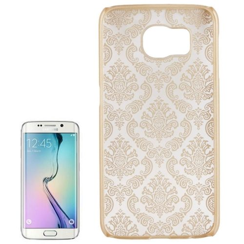 Embossed Flowers Pattern Protective Hard Plastic Case for Samsung Galaxy S6 (Beige)