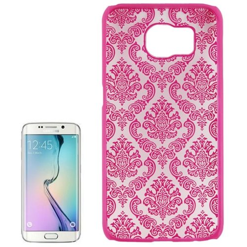Embossed Flowers Pattern Protective Hard Plastic Case for Samsung Galaxy S6 (Rose)