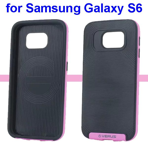 Verus Brand Soft TPU and Hard Protective Hybrid Case for Samsung Galaxy S6(Pink)