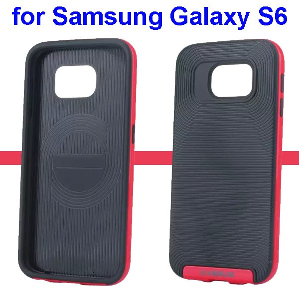 Verus Brand Soft TPU and Hard Protective Hybrid Case for Samsung Galaxy S6(Red)