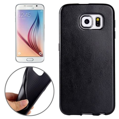 Superior Quality  PU Leather Cover Protective Case for Samsung Galaxy S6 /G920(Black)