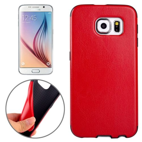 Superior Quality  PU Leather Cover Protective Case for Samsung Galaxy S6 /G920(Red)