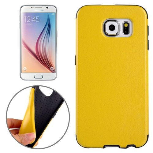 Superior Quality  PU Leather Cover Protective Case for Samsung Galaxy S6 /G920(Yellow)