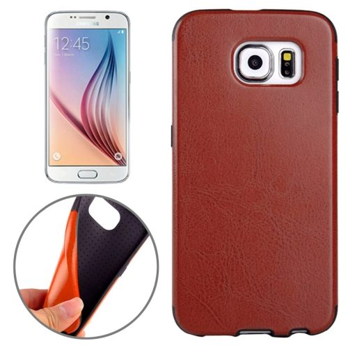Superior Quality  PU Leather Cover Protective Case for Samsung Galaxy S6 /G920(Brown)