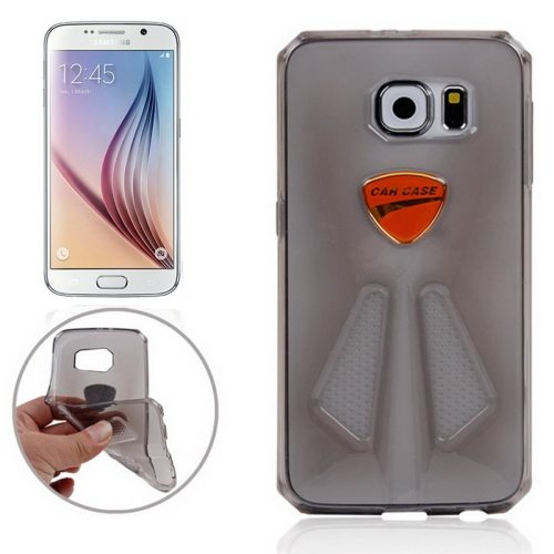 Racing Car Style Transparent Protective TPU Cover for Samsung Galaxy S6/ G920 (Grey)