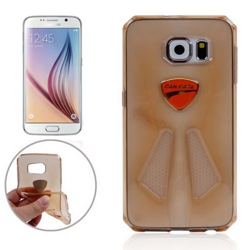 Racing Car Style Transparent Protective TPU Cover for Samsung Galaxy S6/ G920 (Gold)