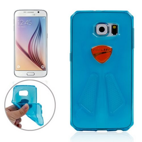 Racing Car Style Transparent Protective TPU Cover for Samsung Galaxy S6/ G920 (Blue)