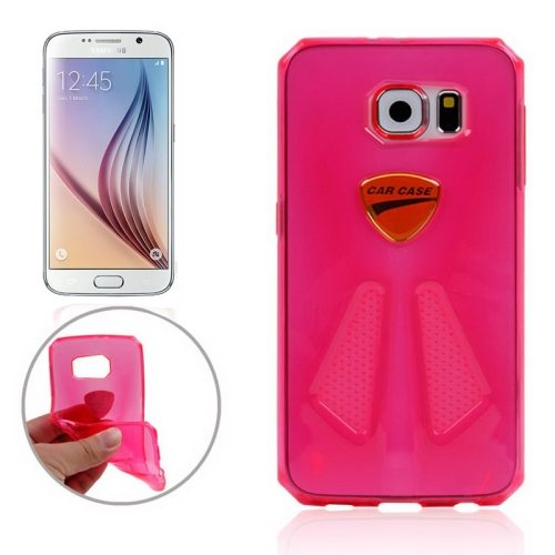 Racing Car Style Transparent Protective TPU Cover for Samsung Galaxy S6/ G920 (Magenta)