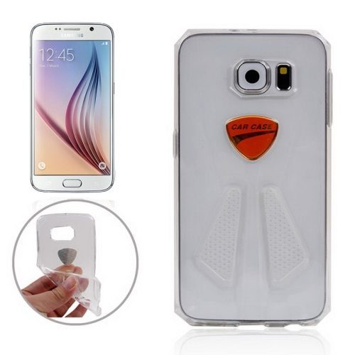 Racing Car Style Transparent Protective TPU Cover for Samsung Galaxy S6/ G920 (Transparent)